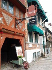 Kavarna v zgodovinski hiši – Halmstad.