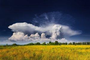 Formacija oblakov (Ivica Brlić, Davor, Hrvaška)