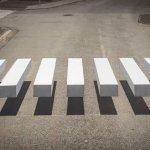3D zebra z optično iluzijo upočasnjuje promet