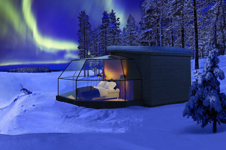 Bi preživeli noč v stekleni sobi s pogledom na severni sij?