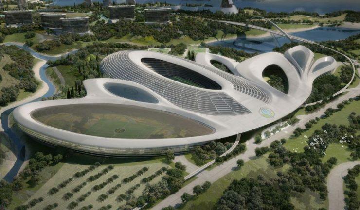Futuristični stadion (foto: Cora Alpha)