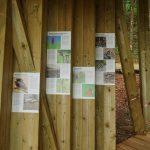 Pot Drvošec. Info table v opazovalnicah. Foto Tine Šubic