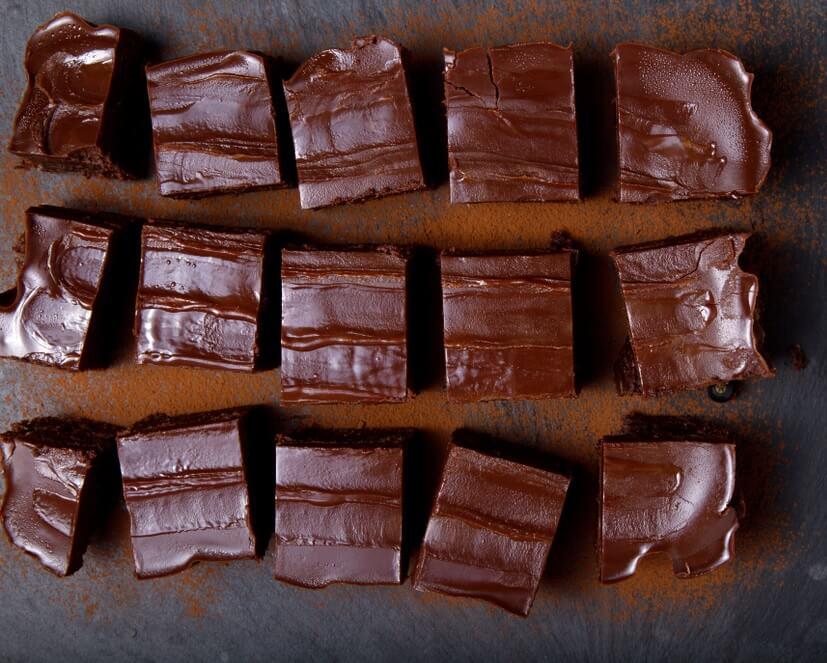 Karantenske rumove kocke s čokolado