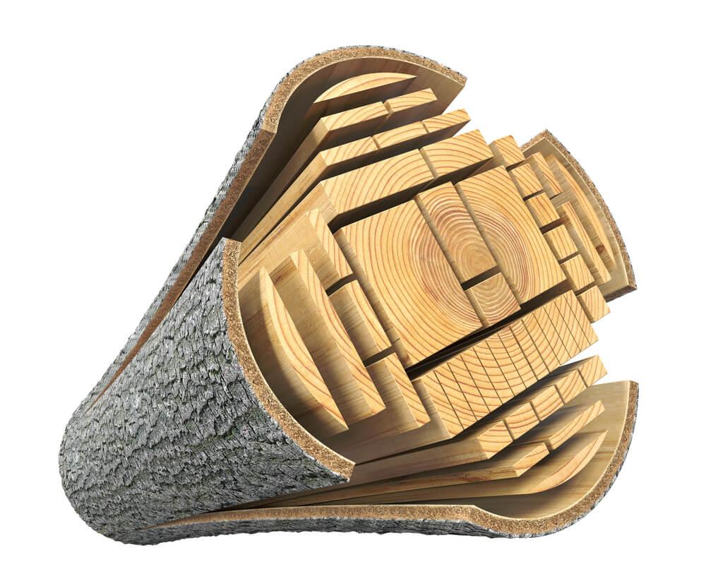 Les je material za industrijsko predelavo in ne energent