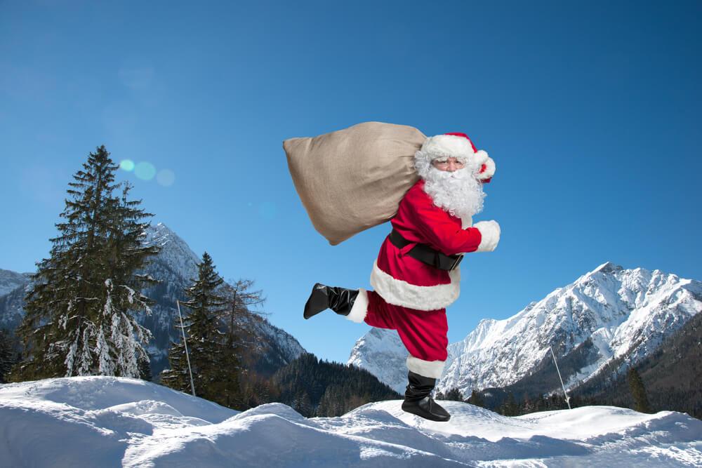 Spremljajte Božička na njegovi poti po svetu