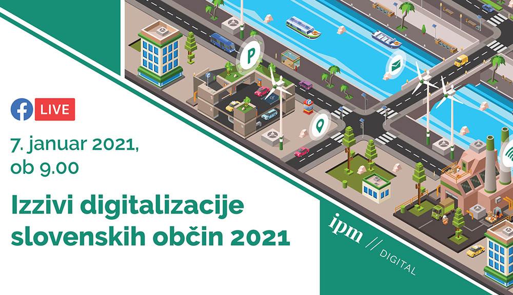 Izzivi digitalizacije slovenskih občin 2021